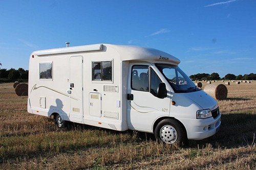 A Ducato Motorhome called Adventure and Side view of Adventure for hire in worthing, West Sussex