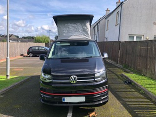 A VW T6 Campervan called Dylan and Im Dyllan for hire