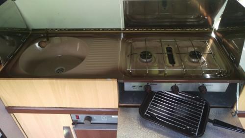 Sink, hob, grill