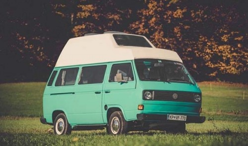 A VW T3 Campervan called Lady and Lady the Van for hire in ljubljana, Slovenia