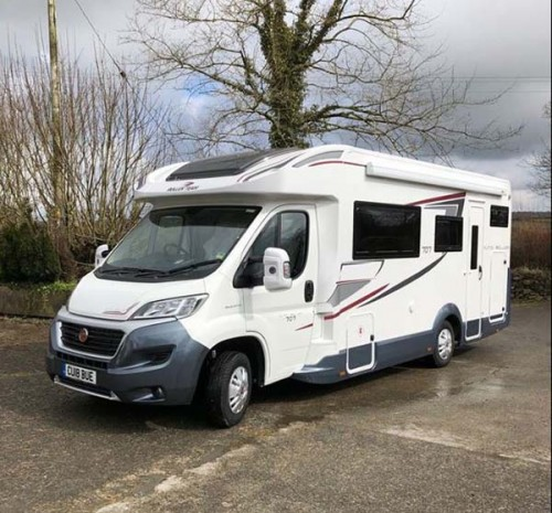 A Roller team Motorhome called Iggy and Iggy the fellow for hire in fishguard, Pembrokeshire