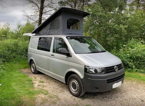 A VW T5 Campervan called MIA and The Camper for hire in leeds, West Yorkshire