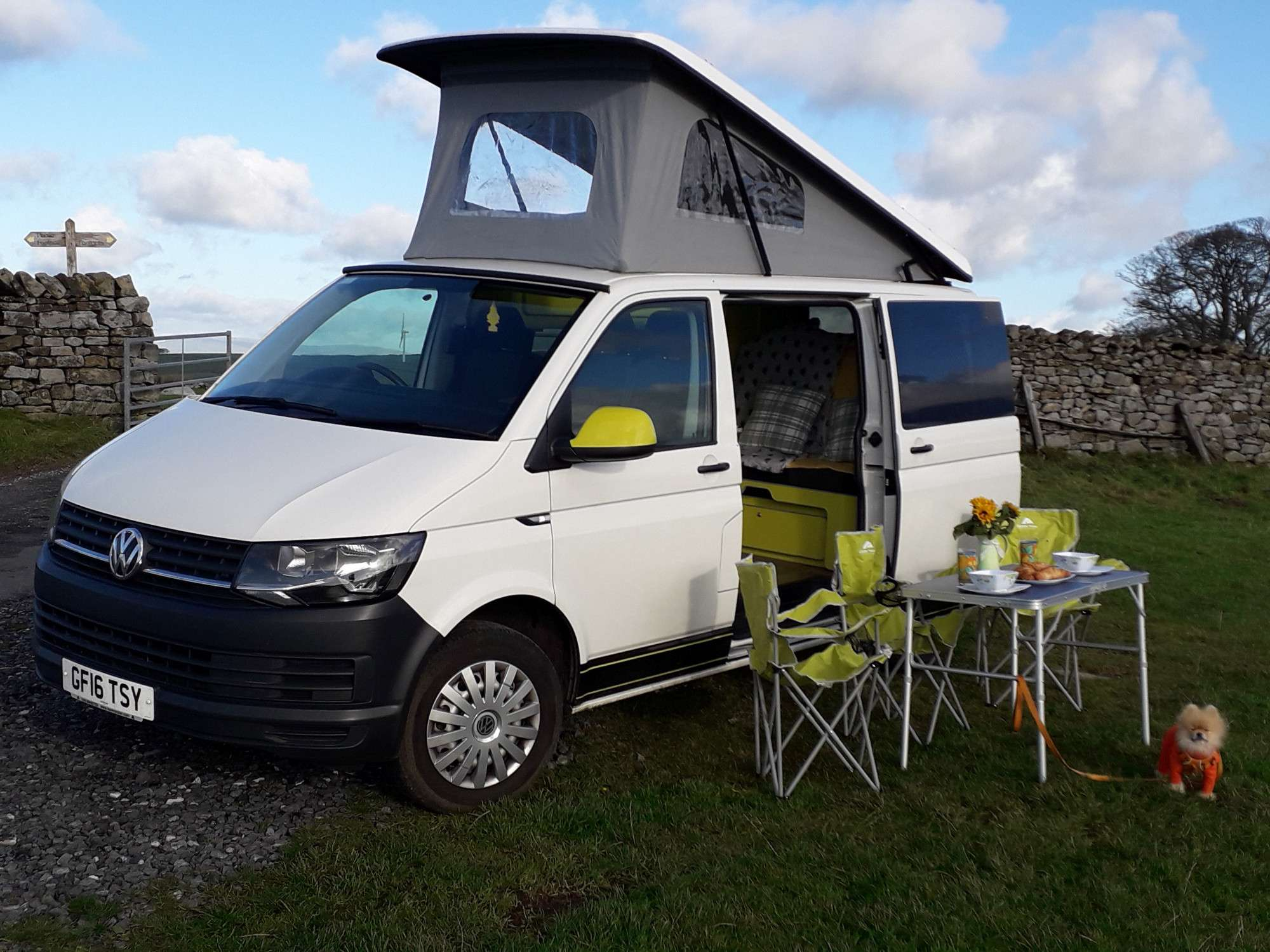 A VW T6 Campervan called HONEYBEE and for hire