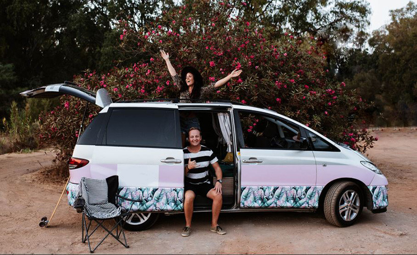 A Nissan Campervan called Angels and An Angel for hire in lisbon, Portugal