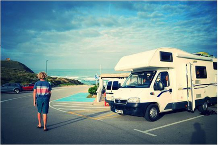 A A-Class Motorhome called Jeffrey and Rest for hire in penzance, Cornwall