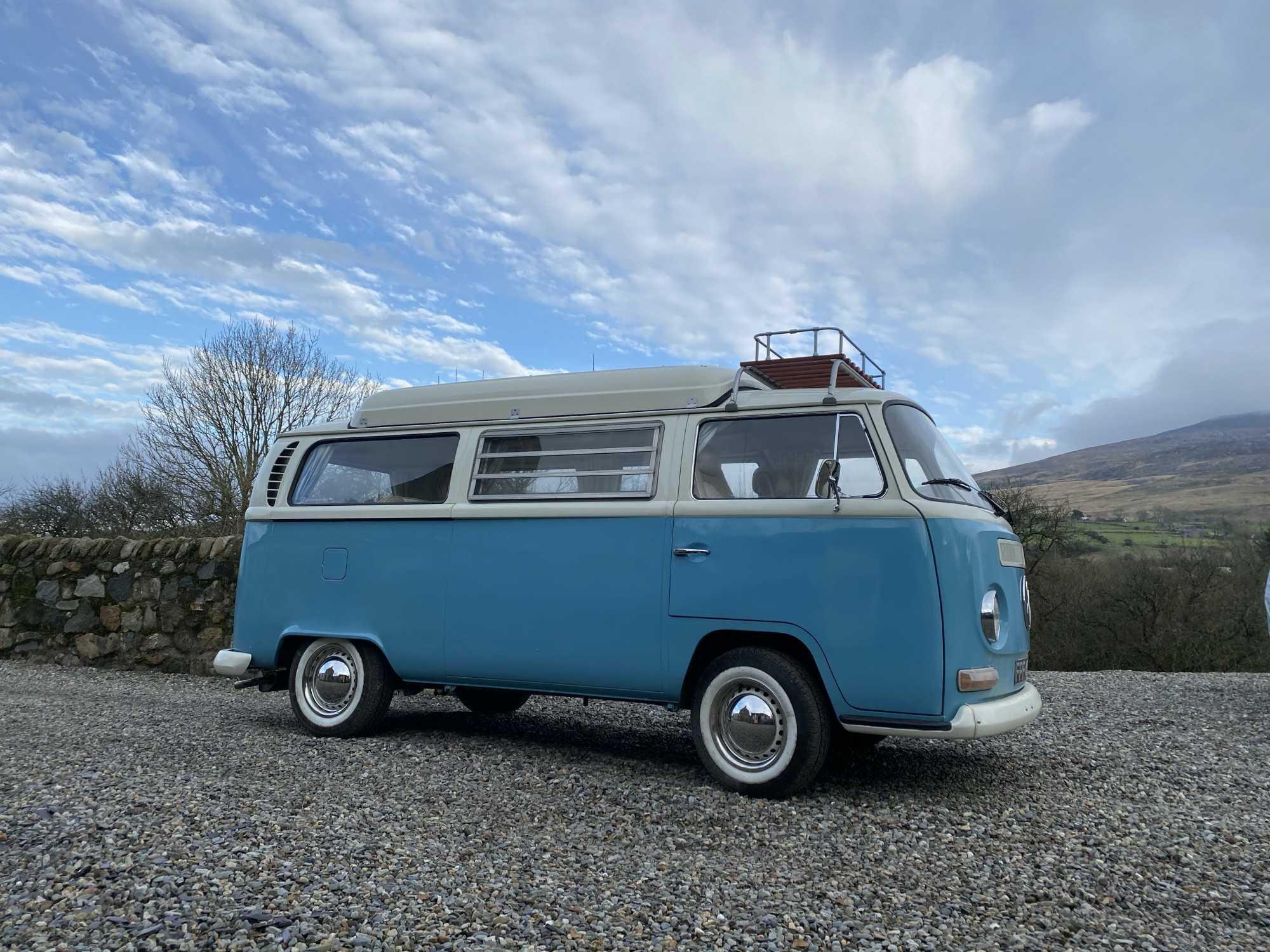 A VW T2 Classic Campervan called Lola and Lola for hire in garndolbenmaen, Gwynedd