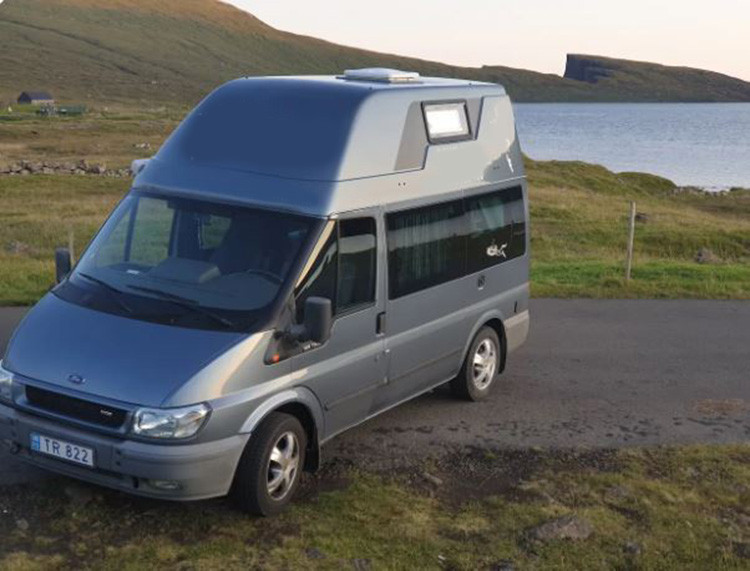 A Ford Campervan called Faroes and Faroes the Motor for hire in sandavágur, Faroe Islands