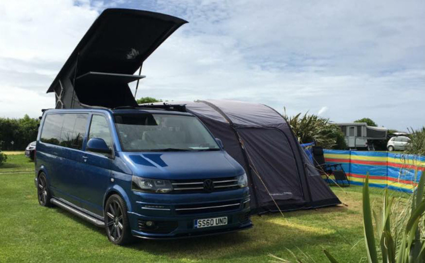 A VW T5 Campervan called Garnet and Garnet for hire in abergavenny, Monmouthshire