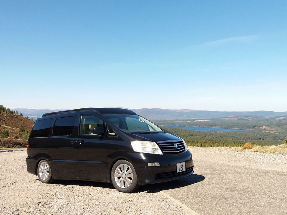 A VW T5 Campervan called Mate and Exterior for hire in cairngorms, Scotland