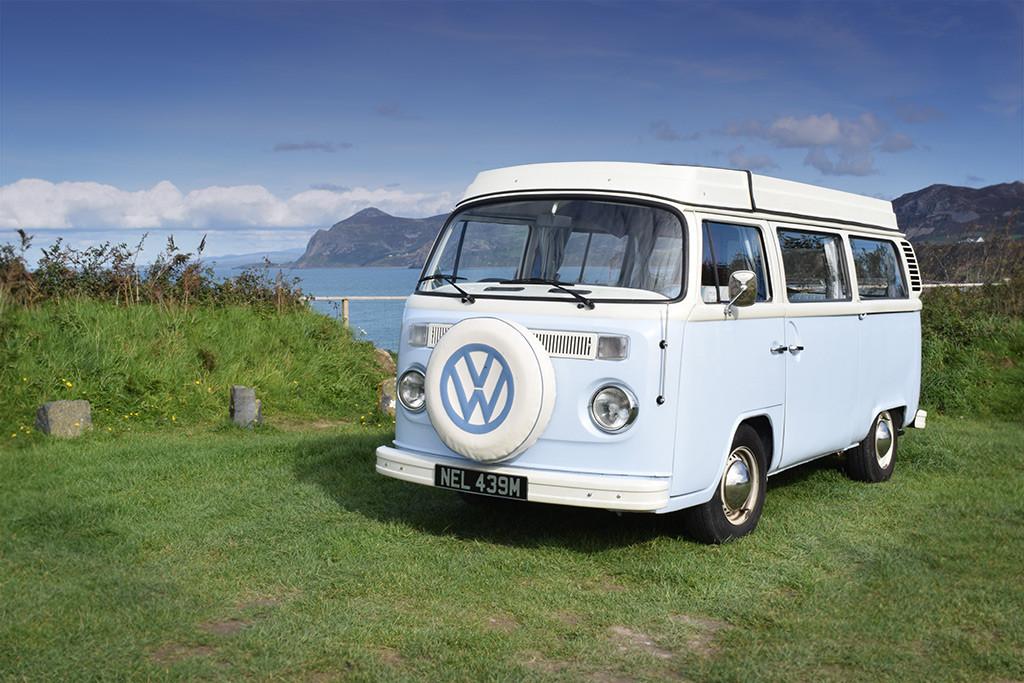 A VW T2 Classic Campervan called BlueNell and Campervan Nell for hire in garndolbenmaen, Gwynedd
