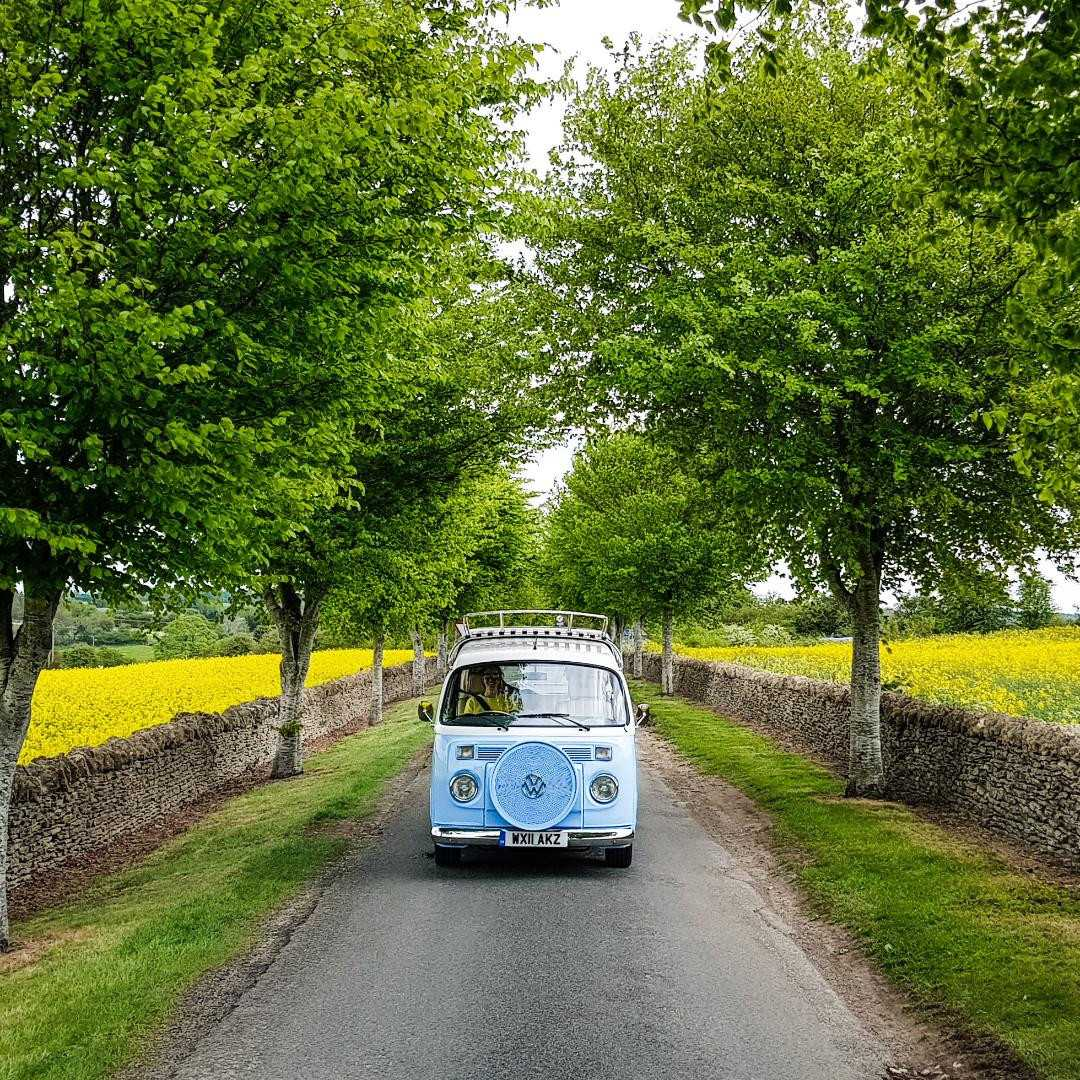 A VW T2 Classic Campervan called LittleDougal and 'All Alone' in the Cotswolds - that's the actual road name! for hire in chippenham, Wiltshire
