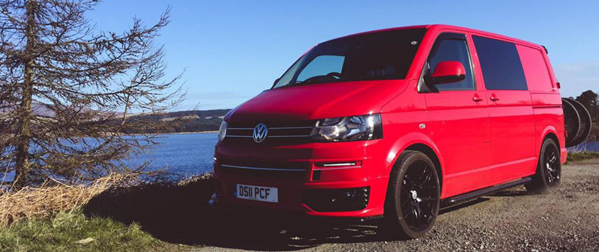 A VW T5 Campervan called Reggie and Reggie for hire in carnforth, Lancashire