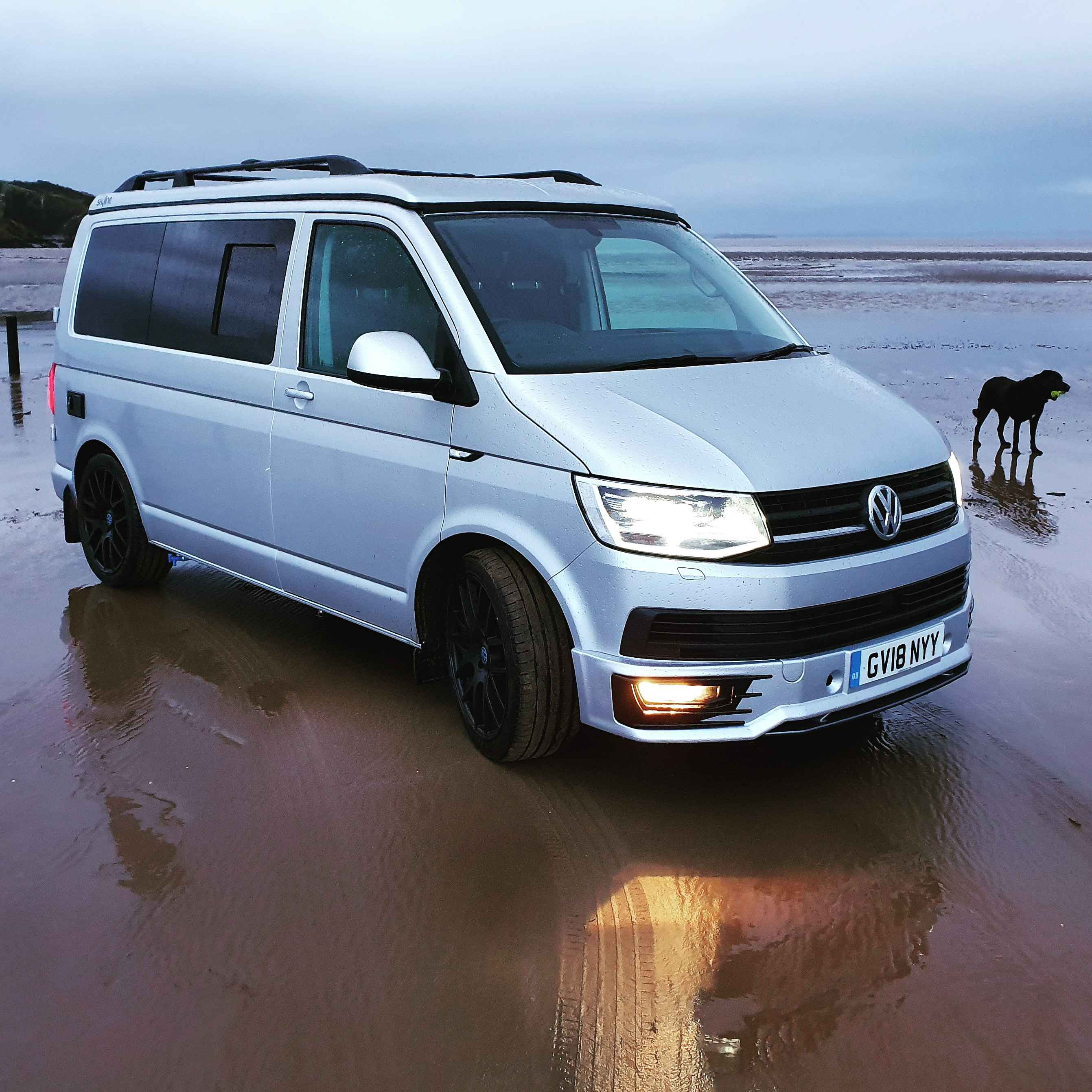 A VW T6 Campervan called Gino- and Gino on the beach for hire in bristol, Bristol