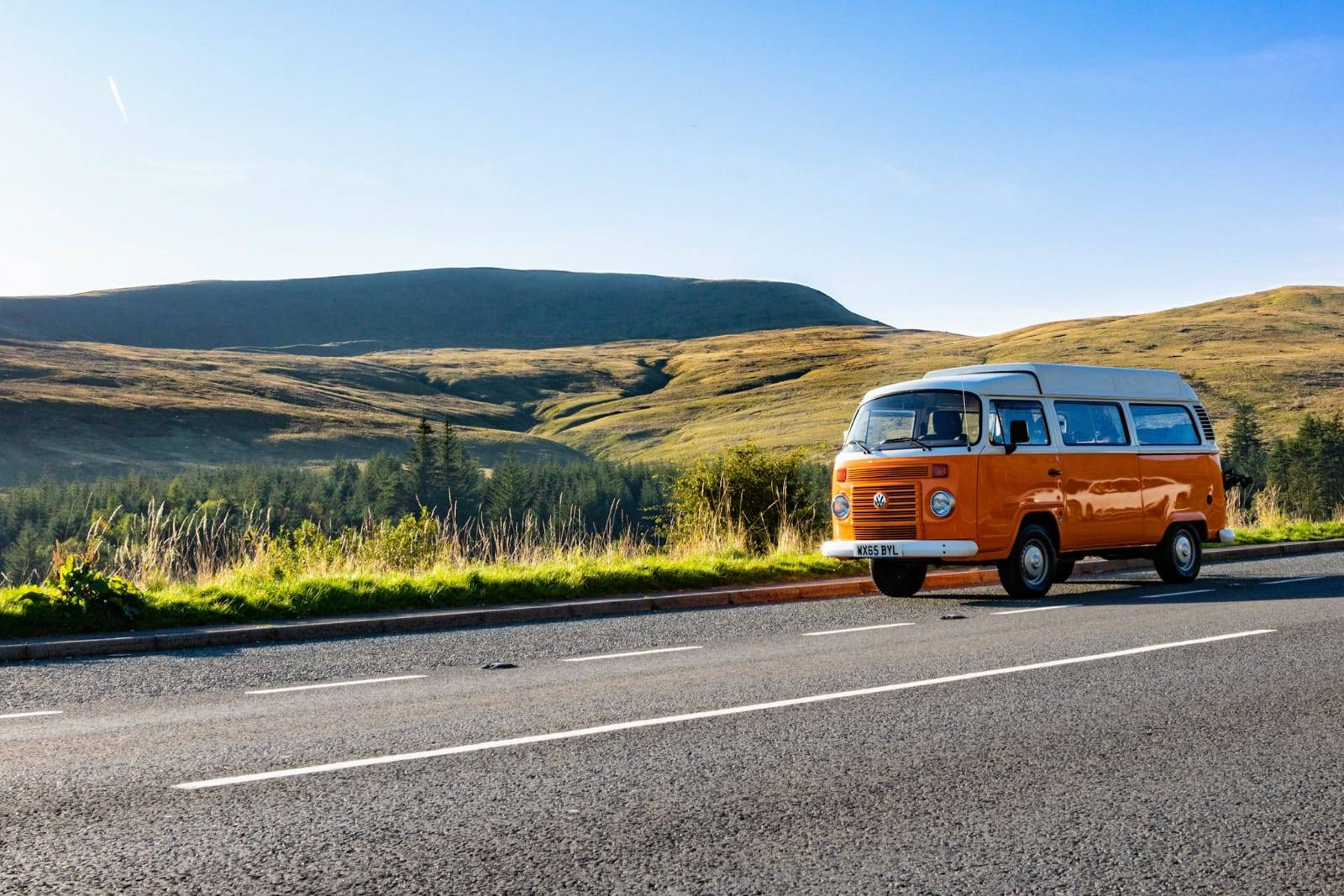 A VW T2 Brazilian Campervan called Terry and Exploring the Brecon Beacons for hire in chippenham, Wiltshire
