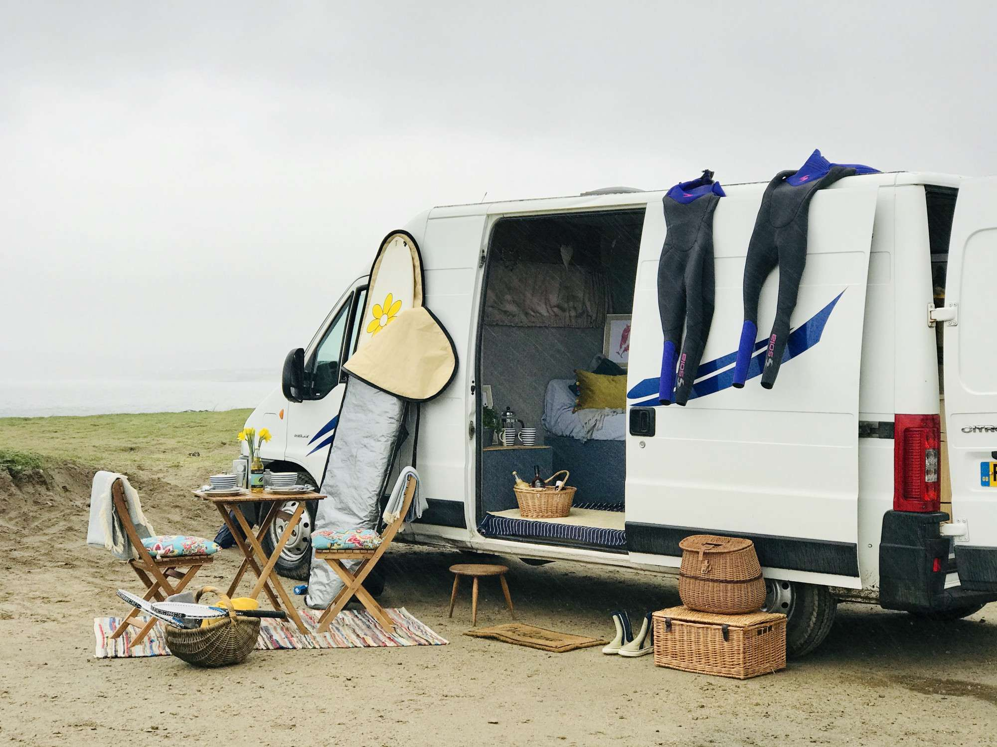 A Citroen Campervan called Yancy and for hire in penzance, Cornwall