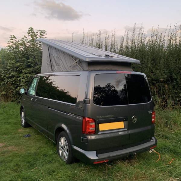 A VW T6 Campervan called CopperLeaf and Exterior view for hire in Milton Keynes, Buckinghamshire