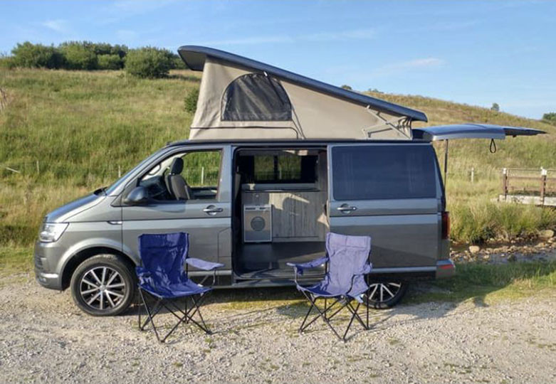 A VW T6 Campervan called Stan-the-van and for hire in preston, Lancashire