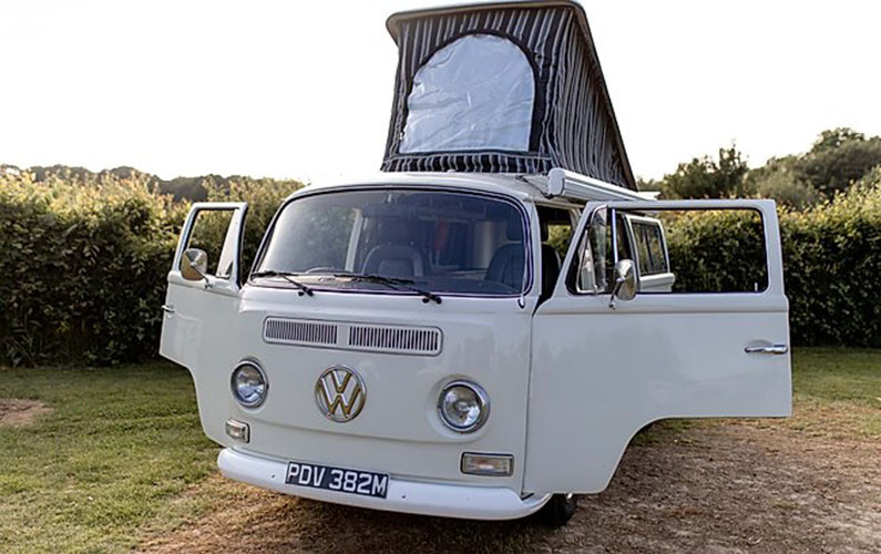 A VW T2 Classic Campervan called Misty2 and for hire in greenwich, London