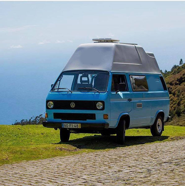 A VW T3 Campervan called Mika and for hire in madeira, Portugal