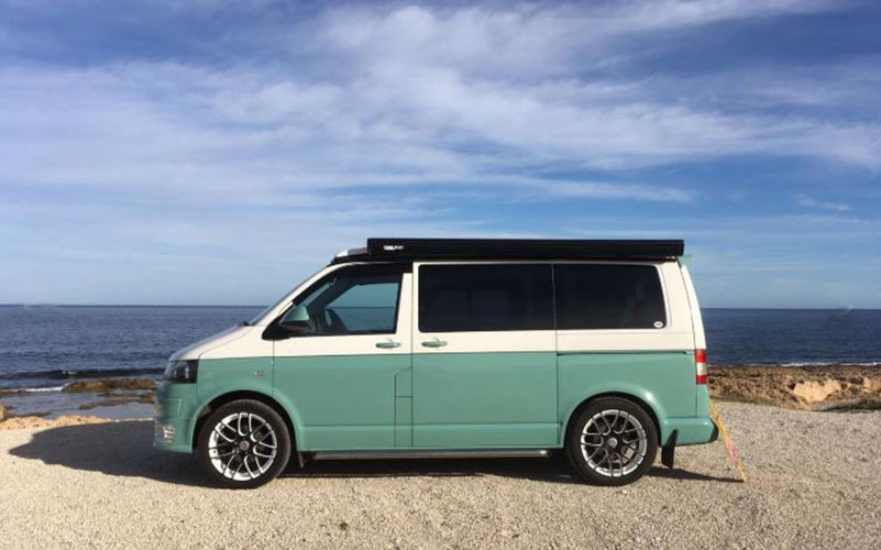 A VW T5 Campervan called Manximillion and for hire