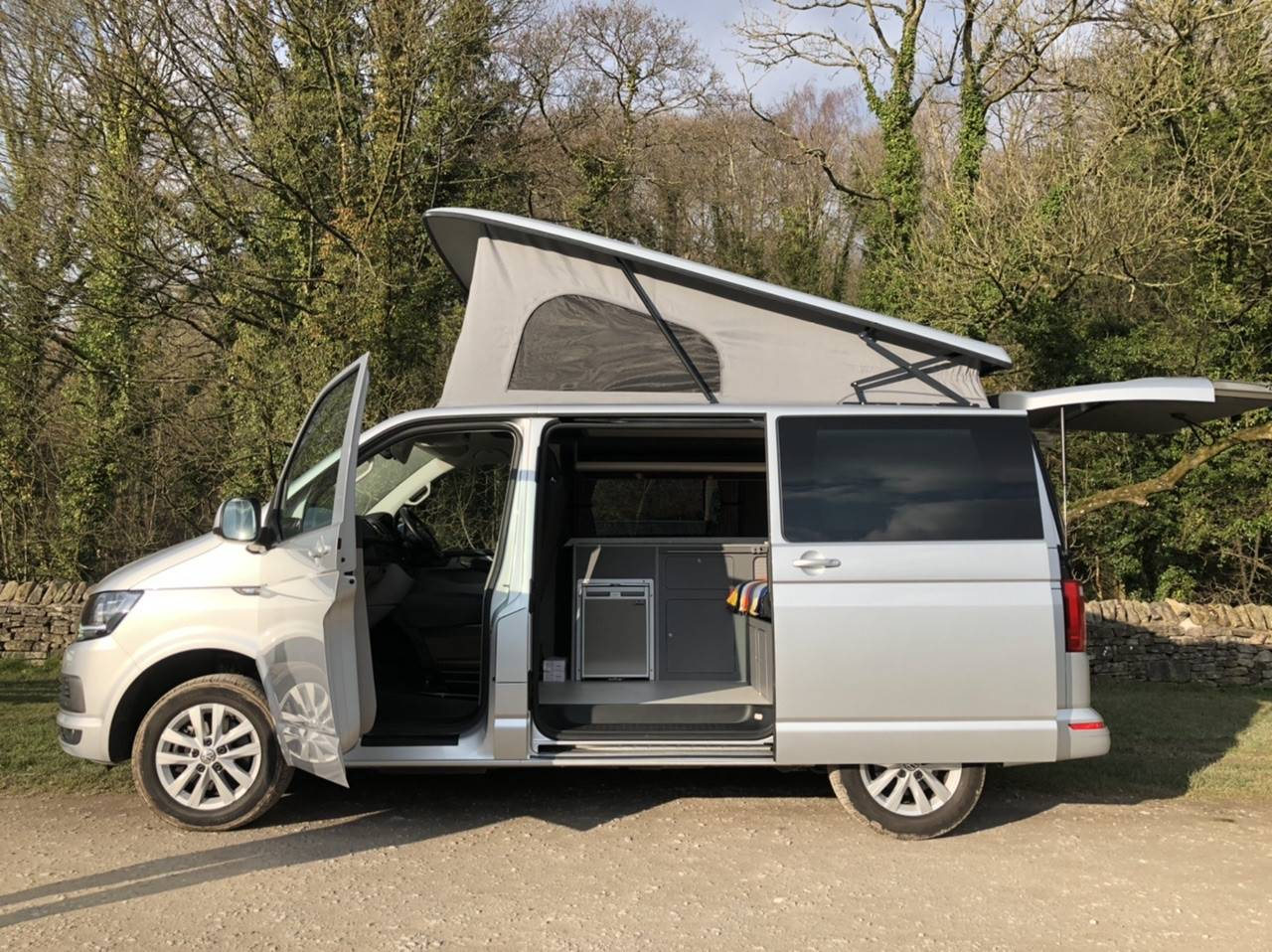 A VW T6 Campervan called Destiny- and for hire in stockport, Cheshire