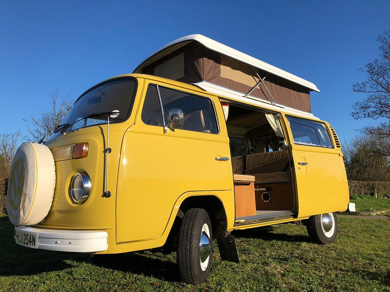 A VW T2 Classic Campervan called Buttercup and for hire in hunstanton, Norfolk