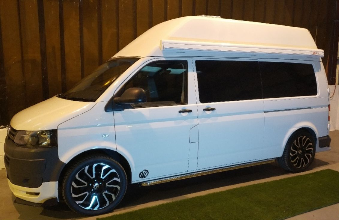 A VW T5 Campervan called Lurky-bug and for hire