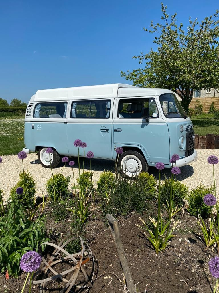 A VW T2 Classic Campervan called Bluebell and for hire in wedmore , Somerset