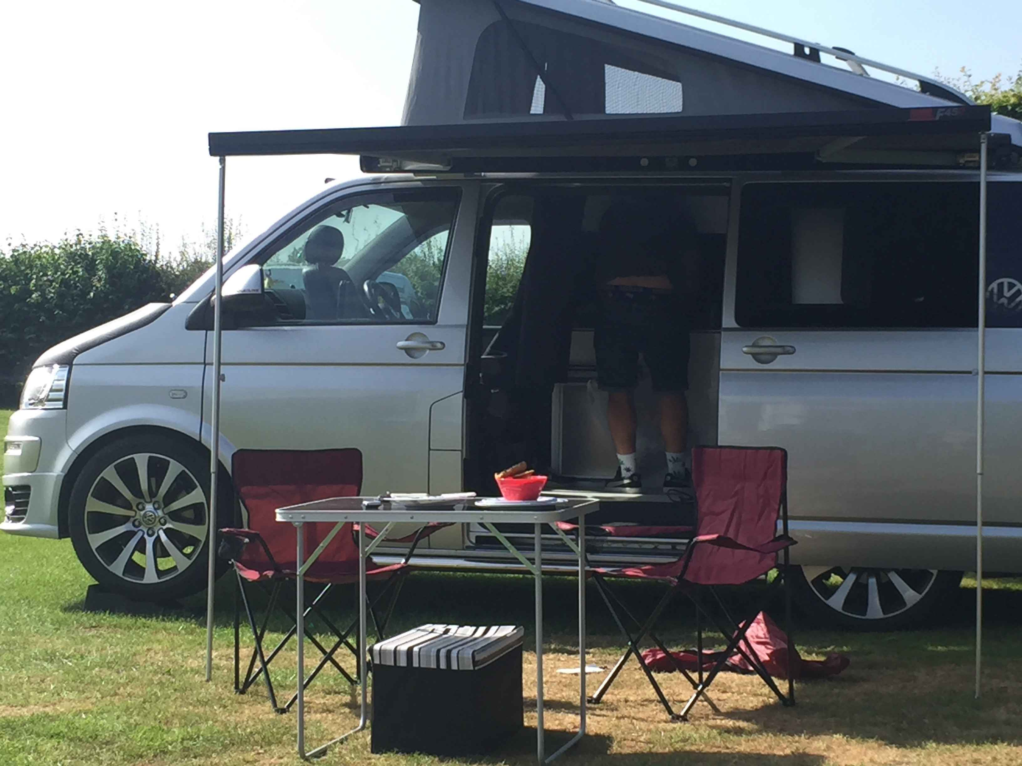 A VW T5 Campervan called SilverTilly and for hire in hull, East Yorkshire