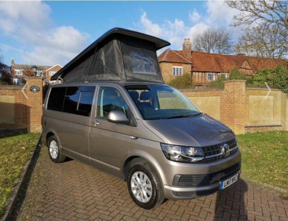 A VW T6 Campervan called Little-Lottie and for hire in leatherhead, Surrey