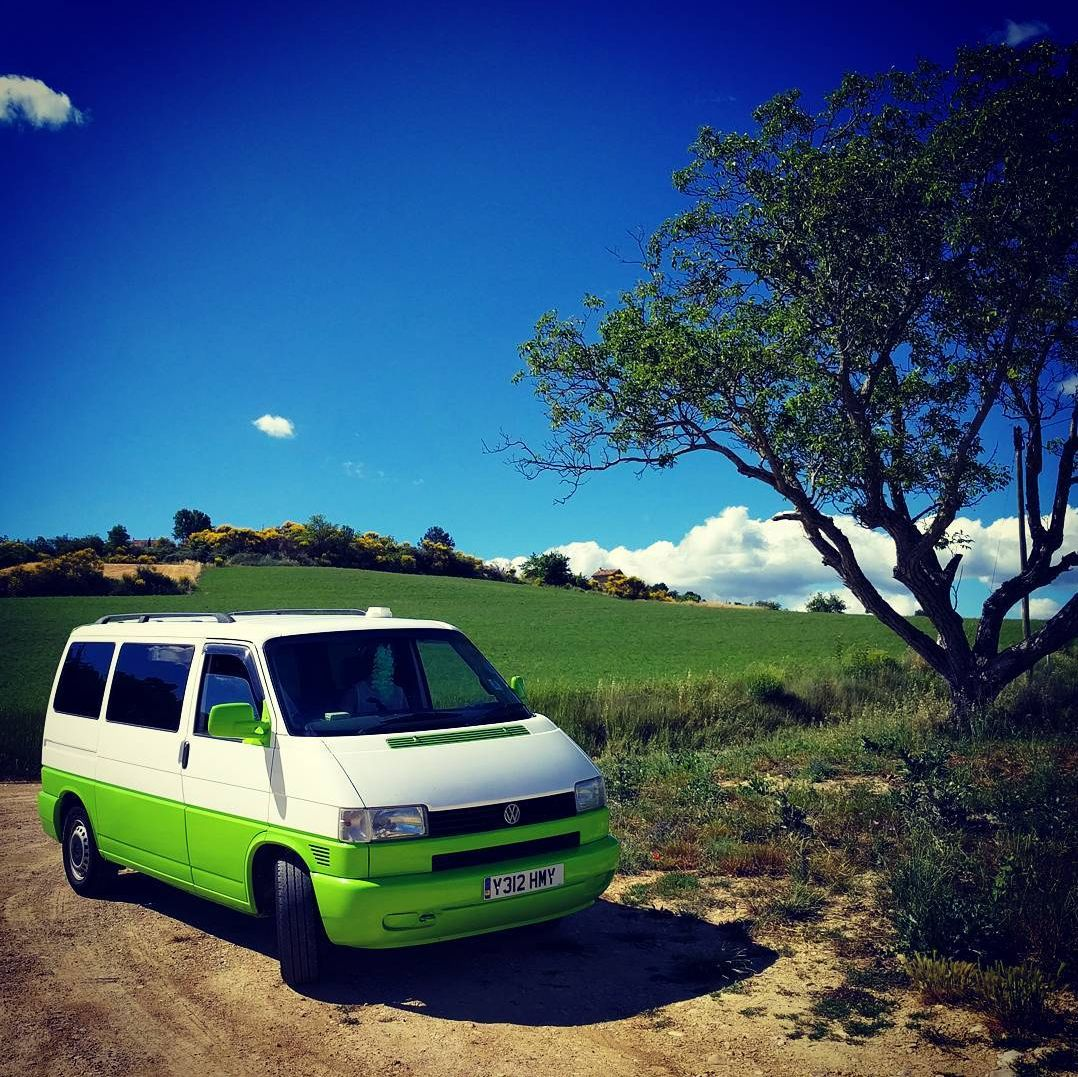 A VW T4 Campervan called Hermione and for hire