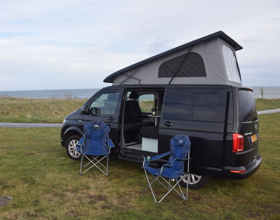 A VW T6 Campervan called Guroo and Van with a view for hire in durham, Durham