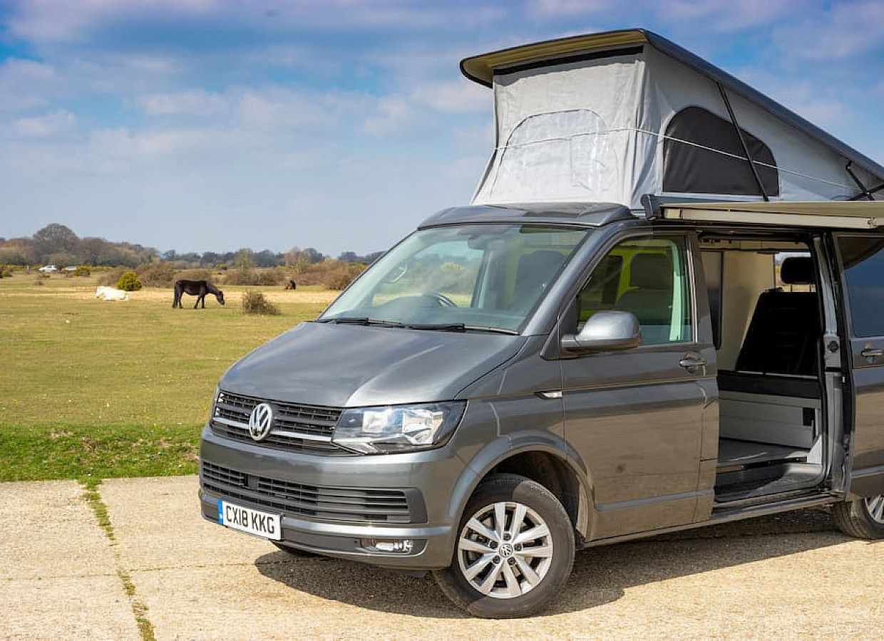 A VW T6 Campervan called SilvieT6 and for hire in ringwood, Hampshire