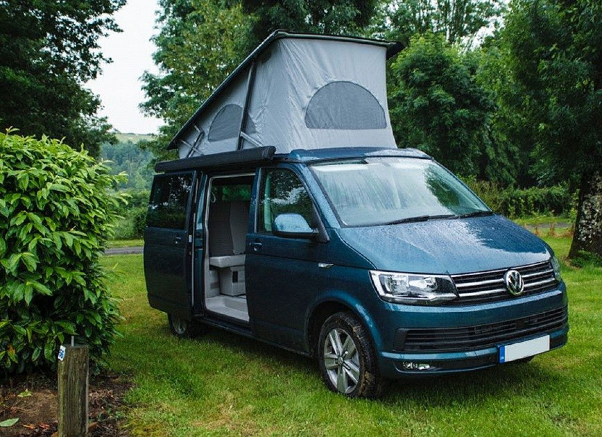 A VW T6 California Campervan called Mitzi and for hire in ringwood, Hampshire