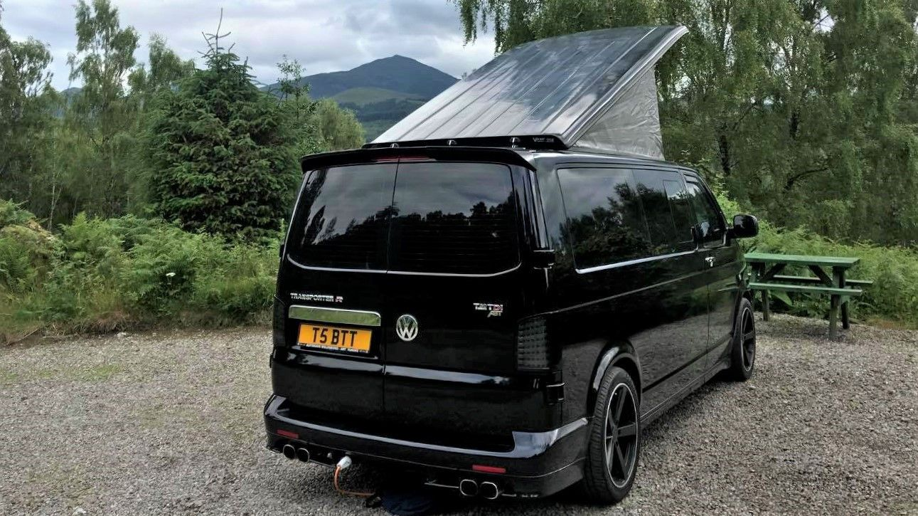 A VW T5 Campervan called Mr-T and for hire in brampton, Cumbria
