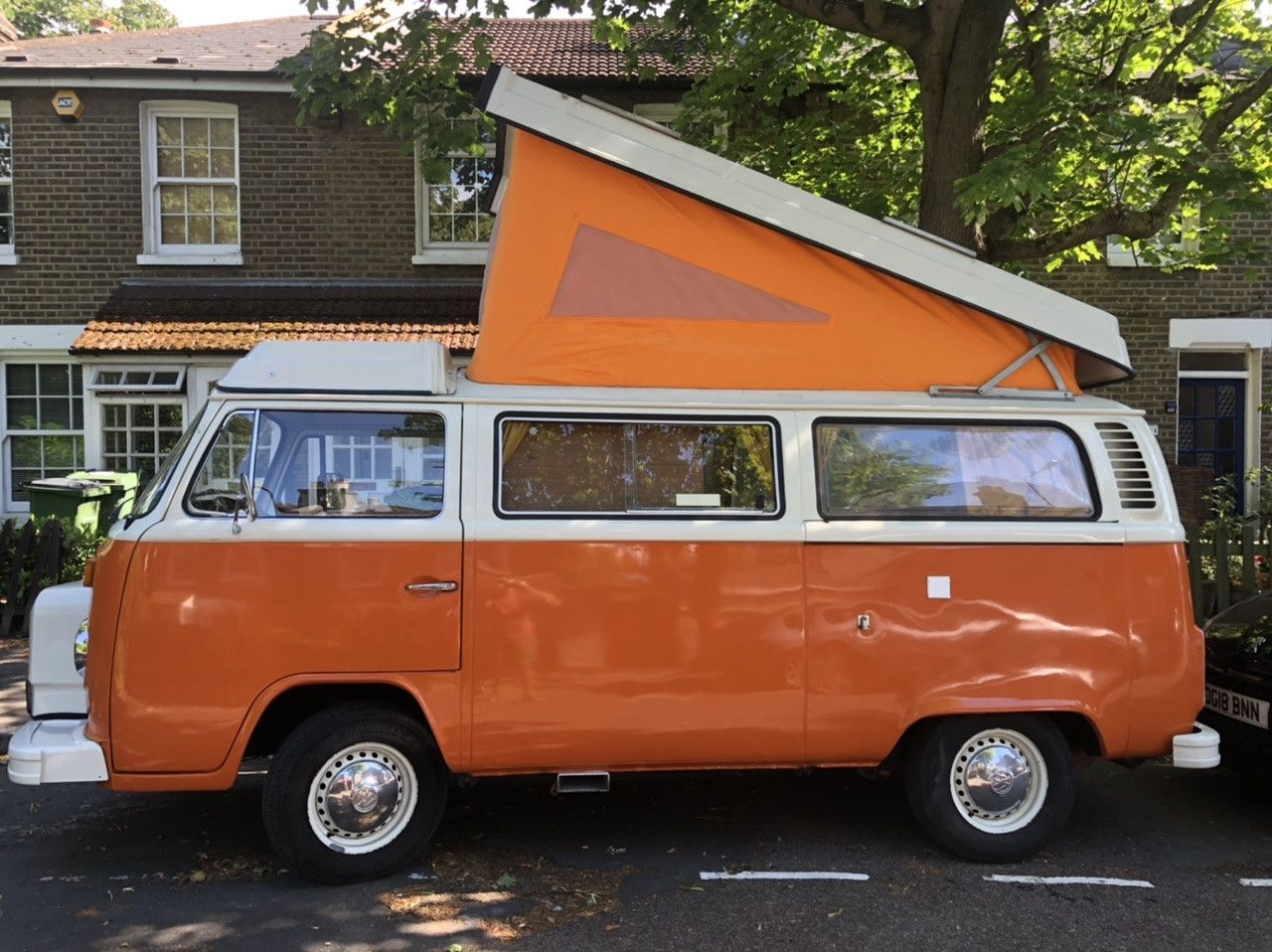 A VW T2 Classic Campervan called Henry-II and for hire in london, London