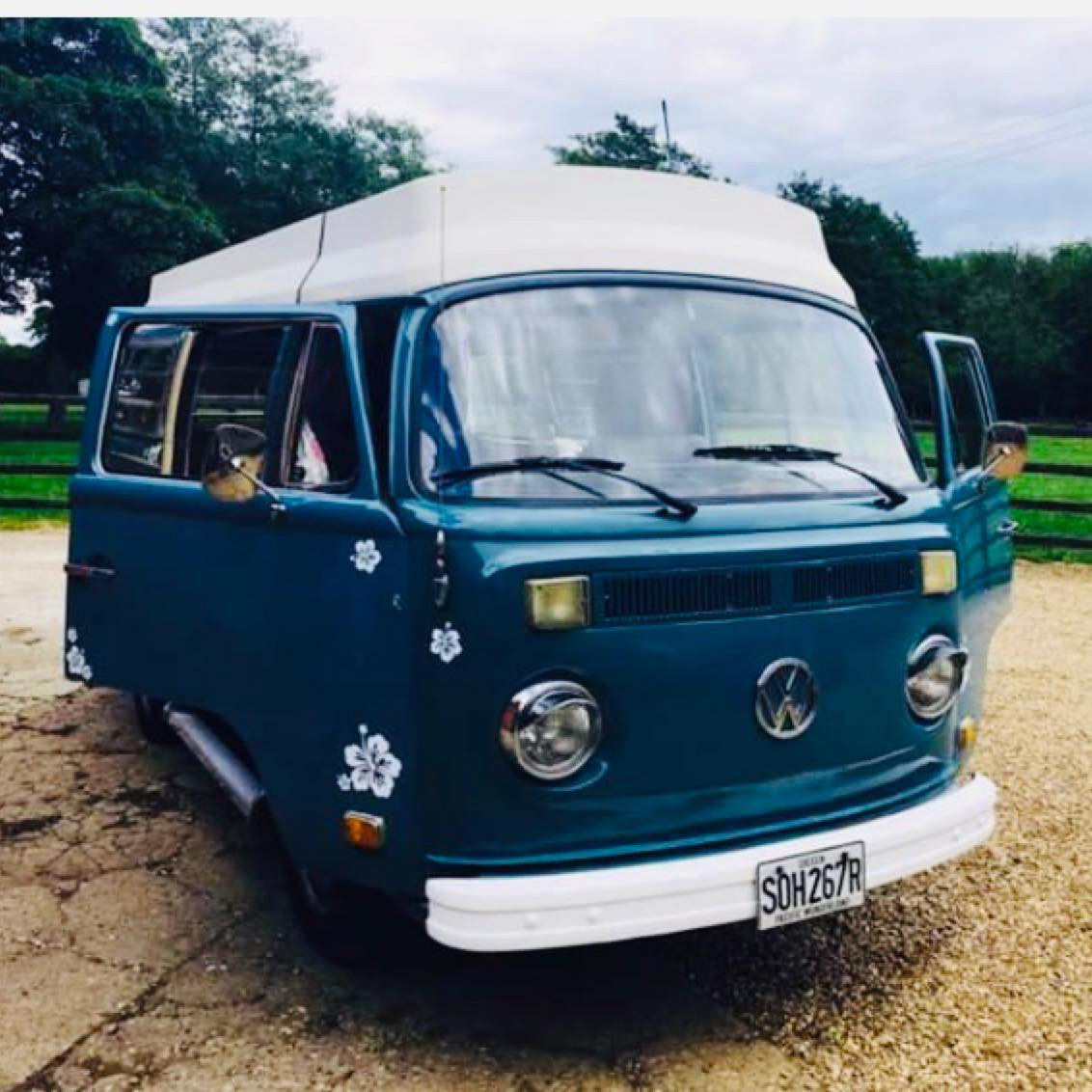 A VW T2 Classic Campervan called Miss-Blue and for hire in mansfield, Nottinghamshire