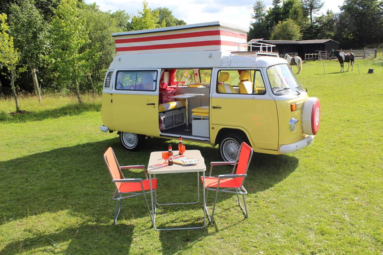 A VW T2 Brazilian Campervan called Our-Peggy and for hire in birmingham, West Midlands