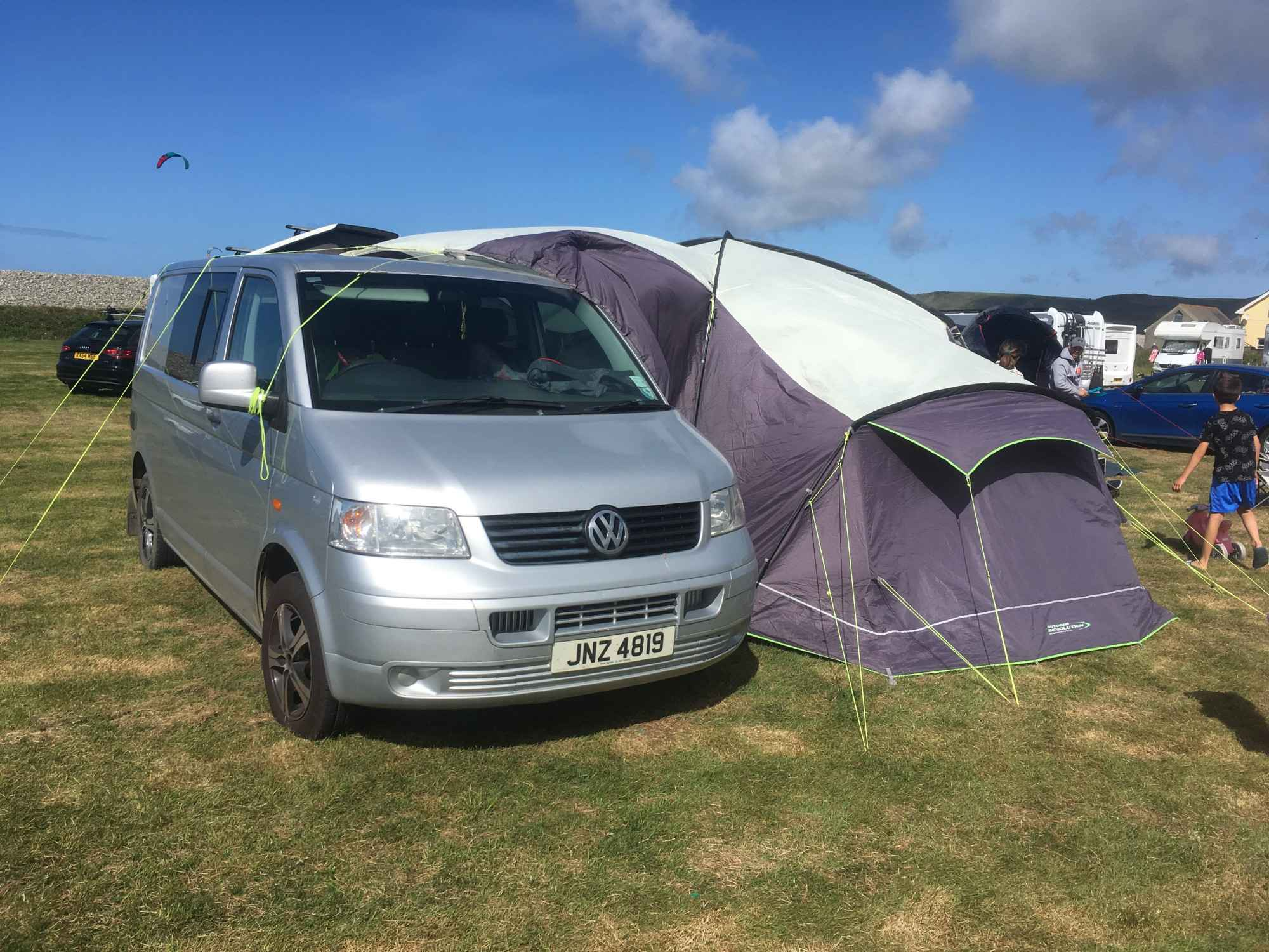 A VW T5 Campervan called T5Silver and for hire in Haverfordwest, Pembrokeshire