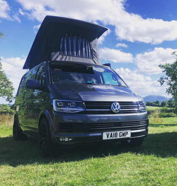 A VW T6 Campervan called christopher and for hire