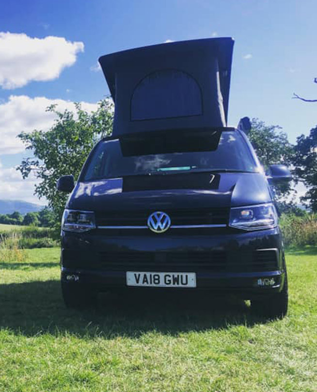 A VW T6 Campervan called Robert and for hire