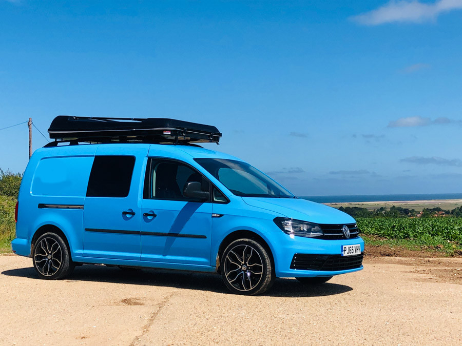 A VW Caddy Maxi Campervan called Alba and for hire