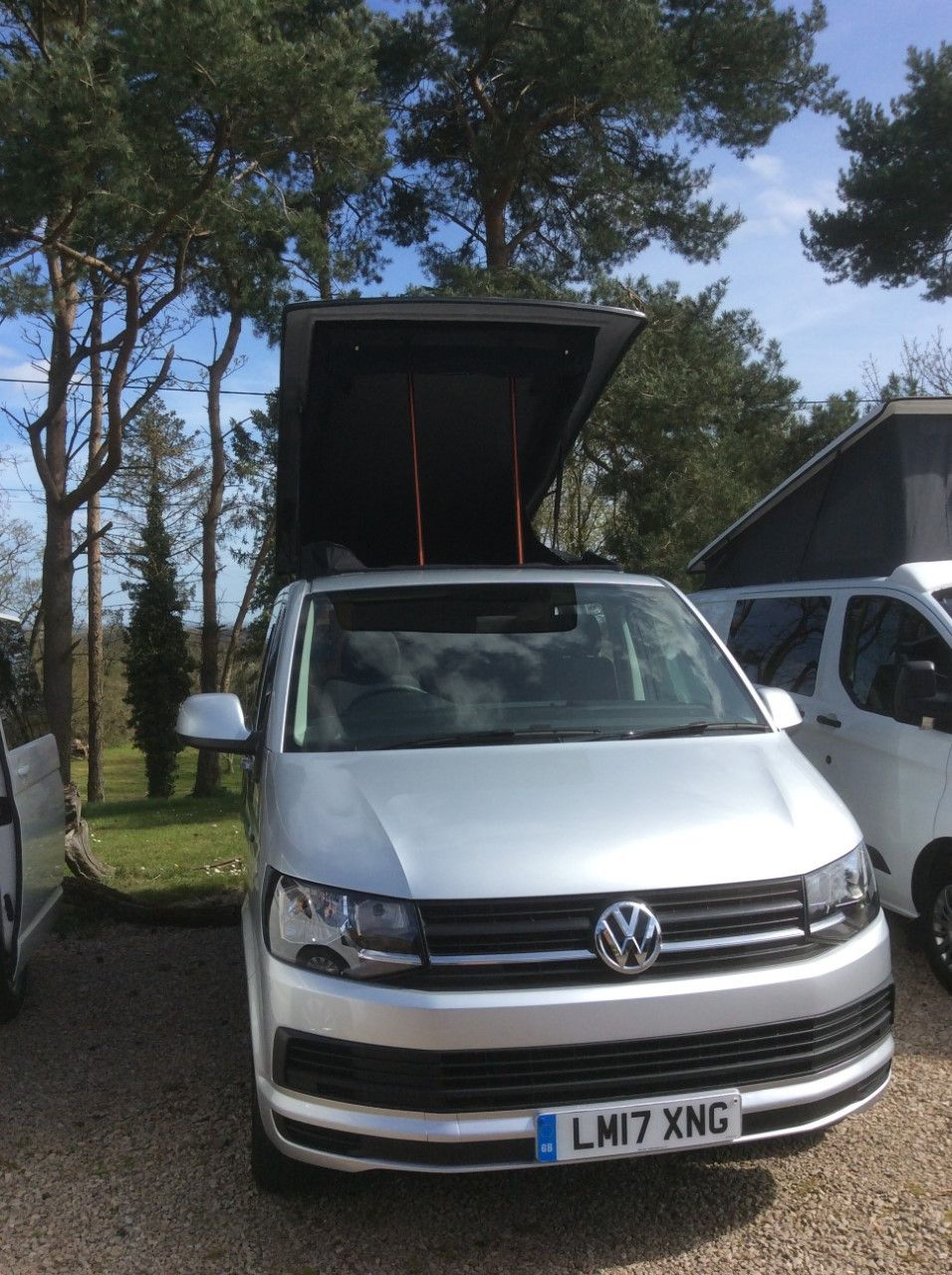 A VW T6 Campervan called Dilys and Black out pop top for summer nights. for hire in shrewsbury, Shropshire