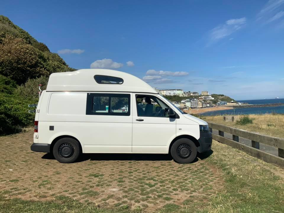 A VW T5 Campervan called Lunar and for hire in ventnor, Isle of Wight