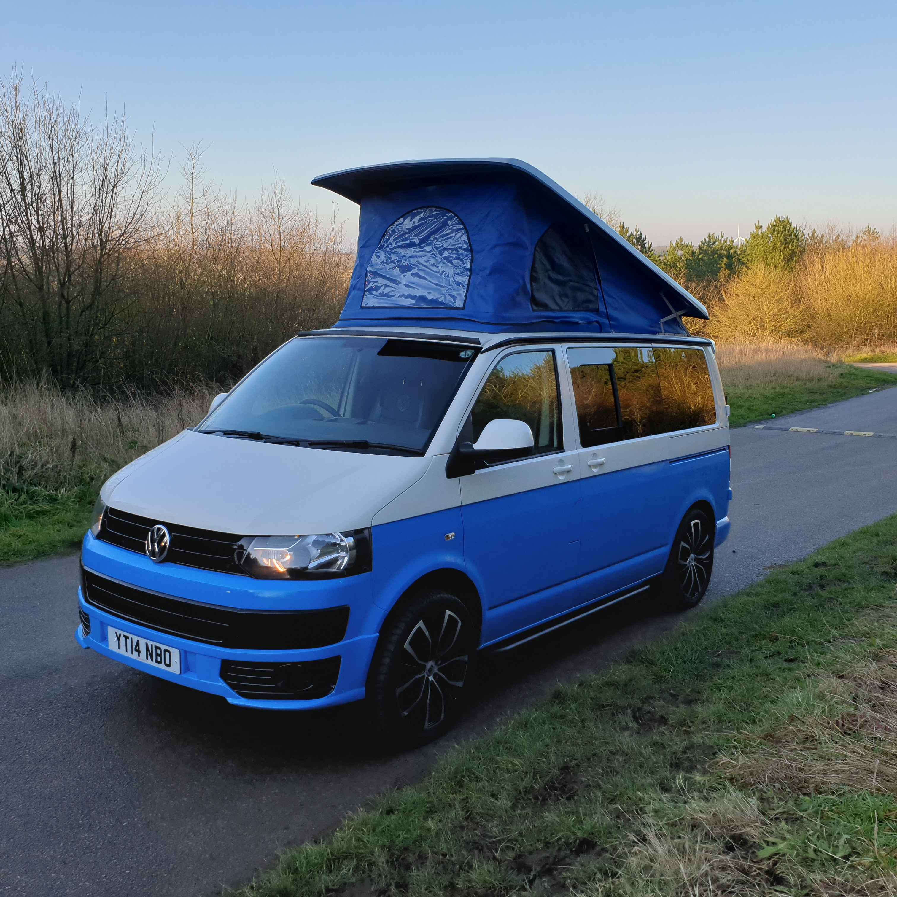 A VW T5 Campervan called Sid and for hire in coalville , Leicestershire