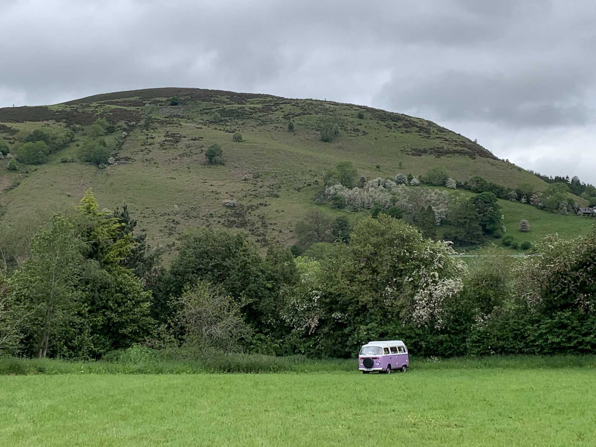 A VW T2 Brazilian Campervan called Roobarb and Camping alone in Llangollen for hire in Malpas, Cheshire