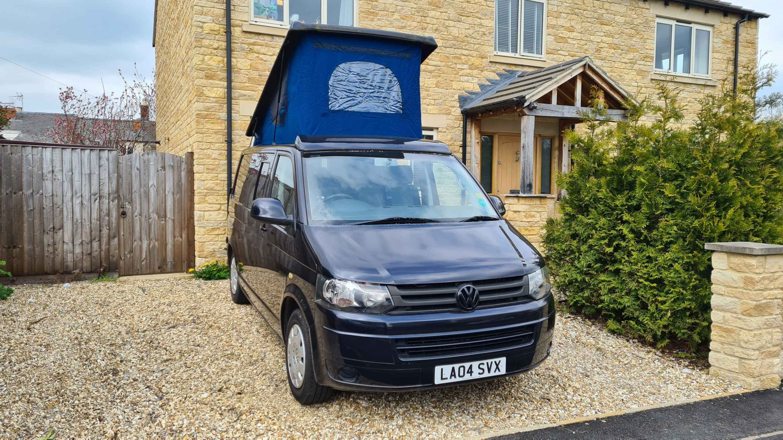 A VW T5 Campervan called Reg and for hire in Cheltenham, Gloucestershire