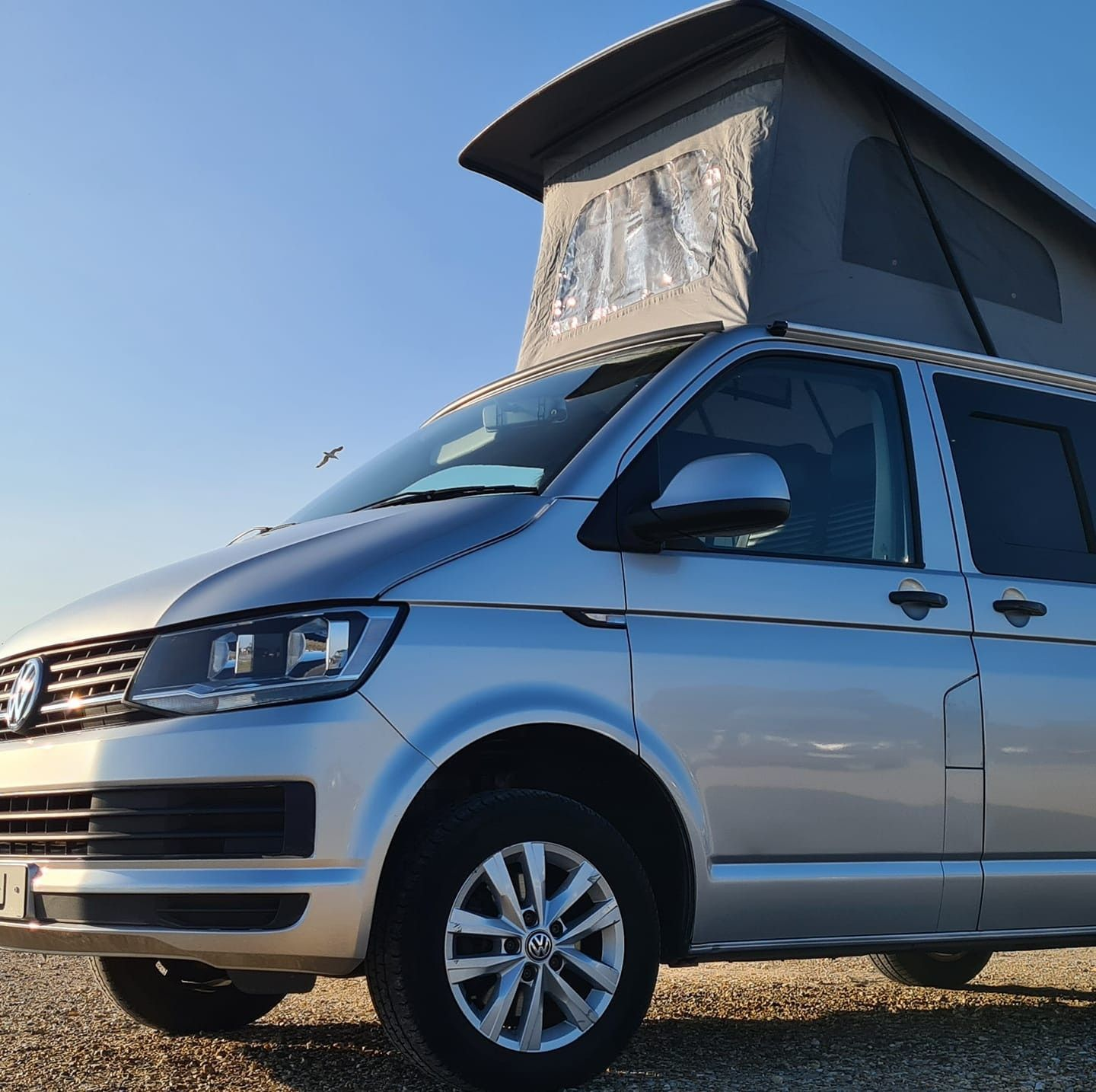 A VW T5 Campervan called silver-lady and for hire