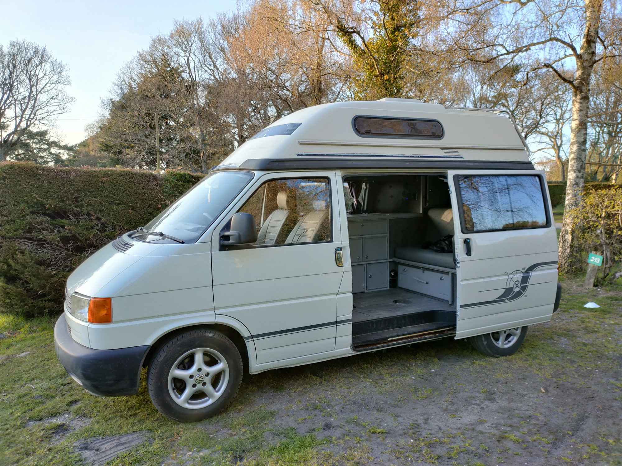 A VW T4 Campervan called Reginald and for hire in Ferndown, Dorset