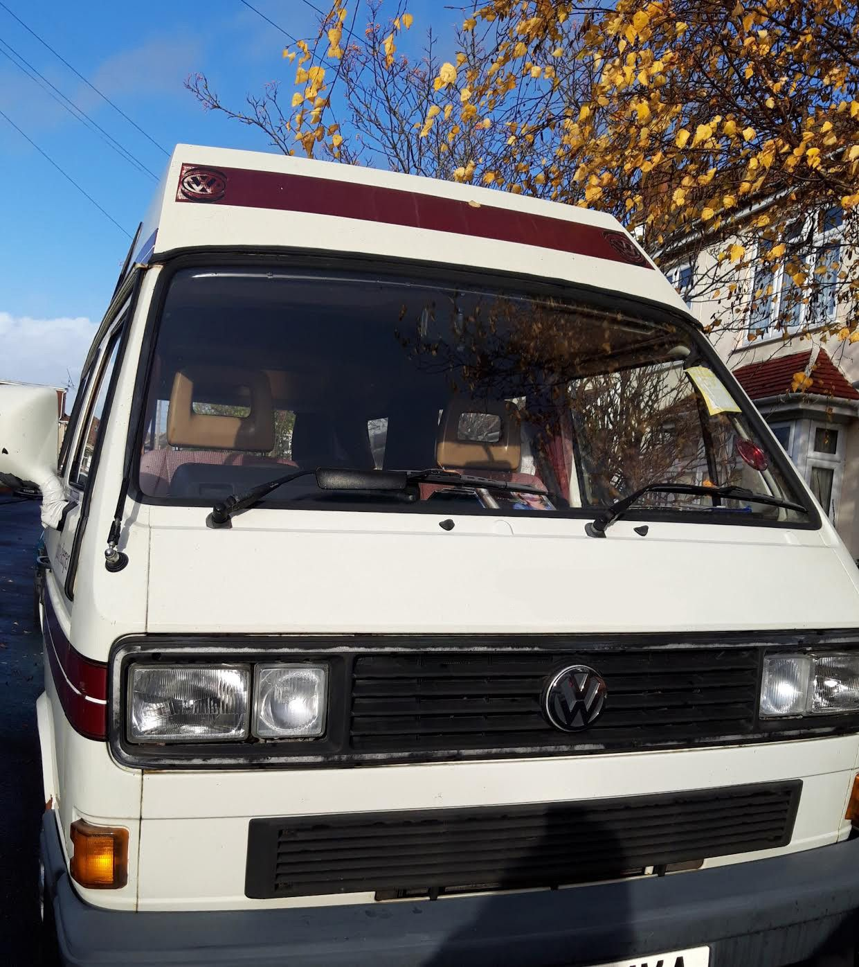 A VW T3 Campervan called Lila and for hire